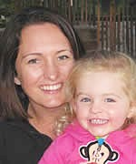 Katie Ward and daughter