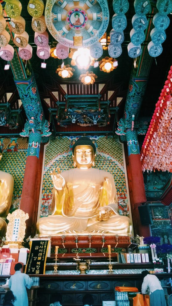 Buddhist temple from the first day of the camp.