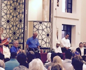The Arizona Interfaith Movement CC co-sponsored a _Love is Stronger than Hate_ event at a Phoenix mosque after anti-Muslim protests.  (1) -cropped