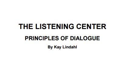 principles for dialogue