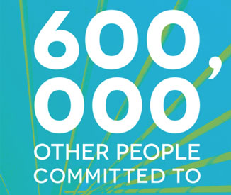 600,000 other people committed to