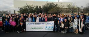 Over 100 Faith Leaders -- Buddhists, Jews, Christians, Muslims, Bahai, Unitarian Universalists and more! -- joined the MLK March in Phoenix to demonstrate Interfaith Solidarity. We belong to each other!
