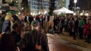 Community members gathered at a unity rally in Charlotte, NC.